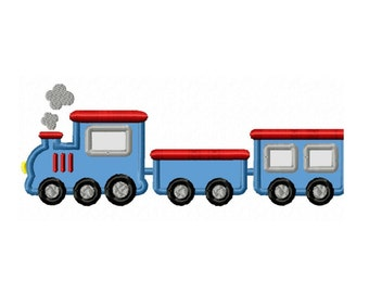 Toy Train Applique Machine Embroidery DESIGN NO. 152