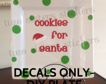 DIY Cookies for Santa Plate Decal Set