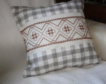 hardanger embroidery cushion