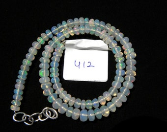 Ethiopian Welo Opal Smooth Beads Rondel Necklace 4.5-6 M.M. 16 inch DM:-412
