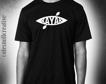 Kayak Tshirt, paddle, watersport, canoe, river shirt......Cool!