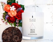 English Gardens Scented Candle, 50 hour burn time, Double Wick, Soy Wax, Hand poured, made to order,  Black Arrow Candles
