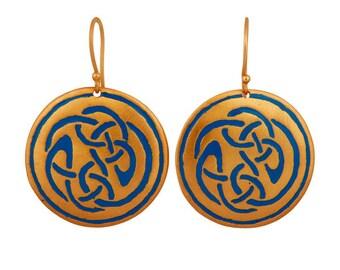Alaia dangle ear hanger, turquoise, oriental