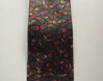 Vintage Silk Tie, Necktie, Mens Necktie, Silk Necktie, 1970's Necktie, Tan Necktie