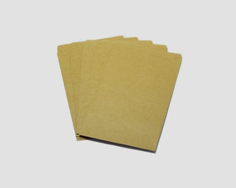 "SALE! 20pcs Kraft Paper Envelopes with Flaps, Scrapbooking, Brown Envelopes 4"" x 6.5"" Inches #SD-S6921"