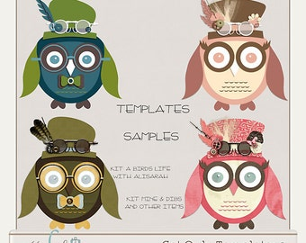 Owly Hybrid Scrapbooking Templates 2