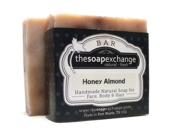 Honey Almond Soap, Honey Soap, Natural Soap, Handmade Soap, Scented Soap, The Soap Exchange