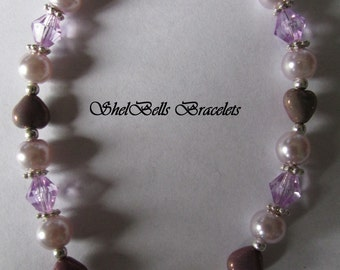 Handmade Medical Alert ID Bracelet Replacement/Valentine/Purple Heart