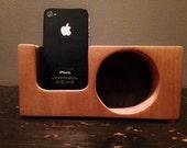 Wooden iPhone Speakerbox iPhone  Stand Speaker Handcrafted Walnut Maple Wood iPhone 5 5s 5c