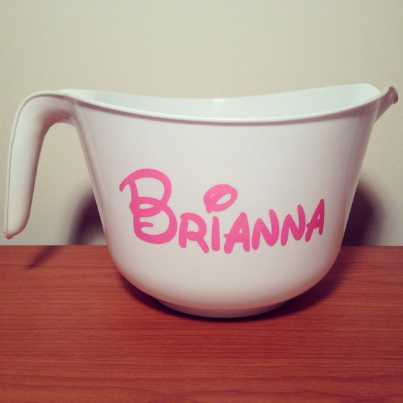 Sale Large Personalized Mixing Bowl Your Font Amp By