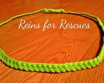 Lime/Neon Green Neck Rope for Tackless Riding