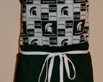 Michigan State University Full Apron with Contrasting Pocket
