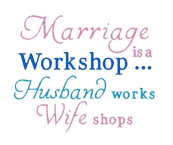 Marriage embroidery design sayings funny