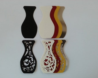 Filigree Vase Die Cuts