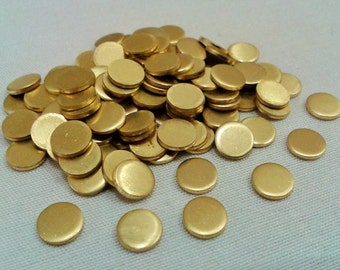 50 Pcs Raw Brass 6  mm Round Stamping Blank Disc ( No Hole -Thickness Of 1  mm ) 18 Gauge