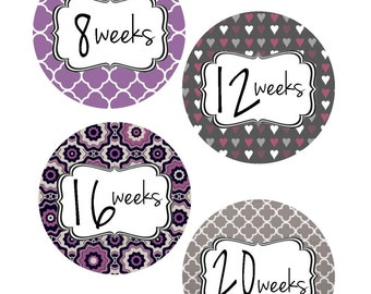Weekly Pregnancy Stickers, Pregnancy Announcement, Pregnancy Belly Stickers, Pregnancy Photo Prop, Maternity Stickers, P32