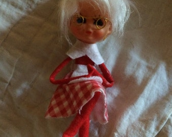 Pixie Mrs. Claus 1960's Christmas Ornament