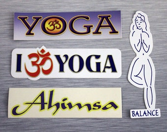 Yoga Sticker Combo Pack Outdoor Bumper Stickers