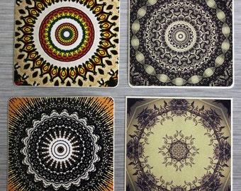 Kaleidoscope Mandala Sticker Combo Pack Set Of 4