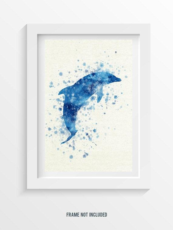 dolphin wall art poster home decor gift idea dolphin 2