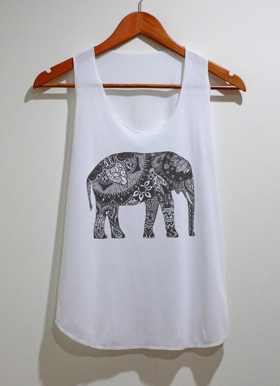 Elephant tank top tunic tshirt singlet vest women by for Elephant t shirt women s