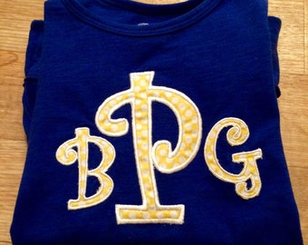 Child's Large Applique Monogram