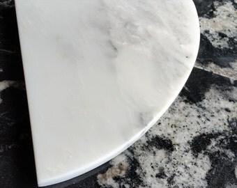 "Marble Shower Corner Shelf (Carrara Milano) 8"" Natural Stone Bathroom Caddy Bath Soap Dish"