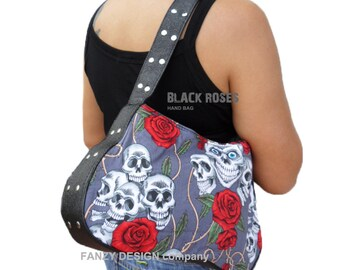 New Shoulder Bag, Goth, Emo, Rockfashion, Punkbag, Fashioncore, Tattoo, WOMEN'S BAG, Skullbag, Punk Bag, Tattoo bag, skull bag,