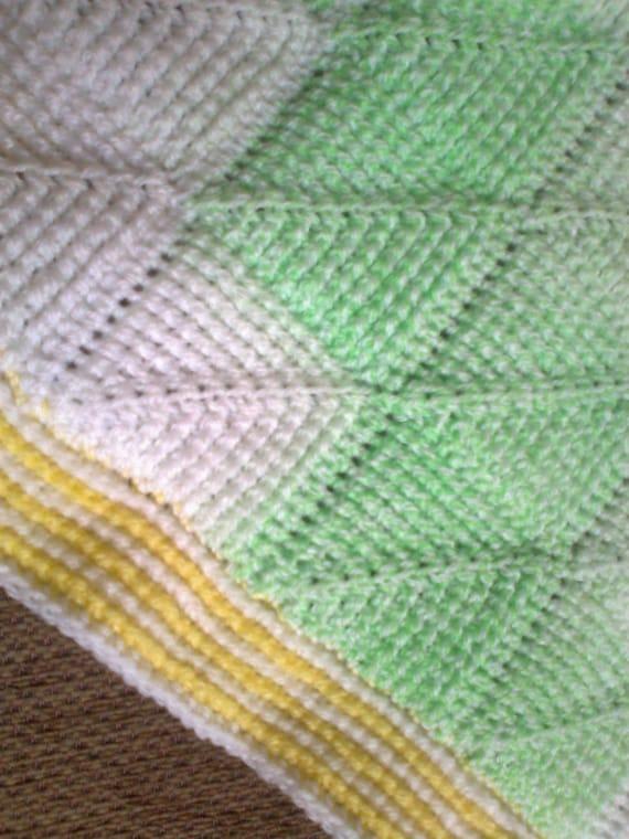 Crochet Baby Blanket Diamond Pattern : Tunisian Crochet Pattern - Tunisian Diamond entrelac baby ...