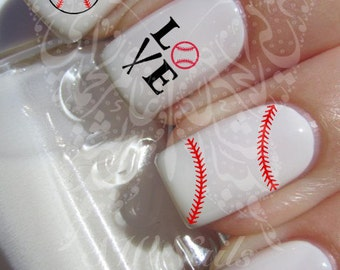 Baseball Nail Art Water Decals Nail Transfers Wraps