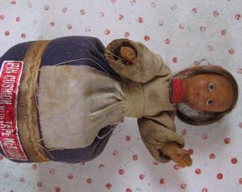Tape measure doll vintage ornament