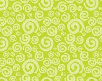 Camelot Fabrics 'Dream a Little Dream' Lime Green Swirls 172