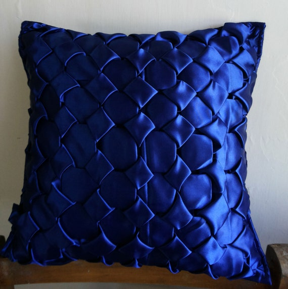 Canadian Inspired Home Decor Canada Pillow Via Etsy: Decorative Blue Throw Pillow Cover 16x16 Satin By KnotnStitch