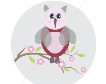 Cute Owl Print