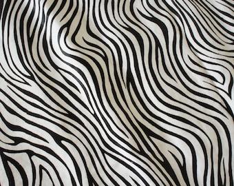 "8 sqft Soft Hair On Hide Zebra Print Animal Leather Cowhide, size 40""x28"""