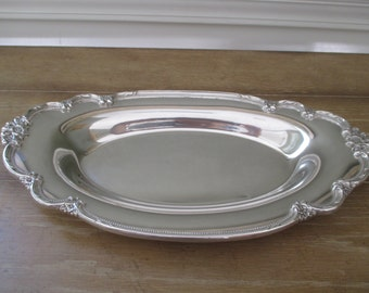 Silverplate Tray ~ Remembrance Pattern Bread Tray~ International Silver