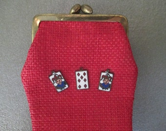 1950's Red ~ Glasses Case, Spectacles Pouch ~ Made in Italy