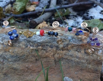 Custom swirl rings - any stone - your choice of finish - your choice of size