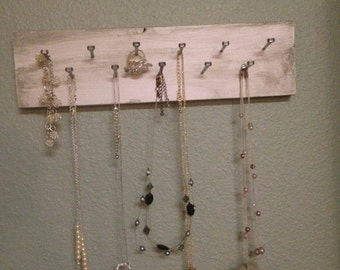 Choose your color necklace and jewelry holder organizer wall hanging jewelry organizer