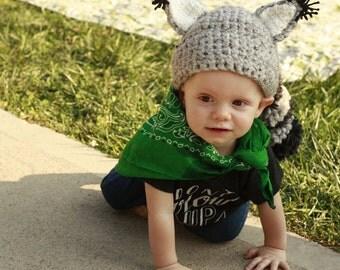 Crochet Coon Skin Cap