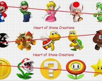 Mario Bros Bottle Cap Image Sheet