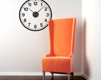 School Clock Wall Sticker (mechanism included)