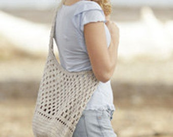Crochet Linen Shoulder Bag