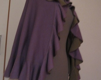 Handmade beautiful purple/olive shawl/wrap