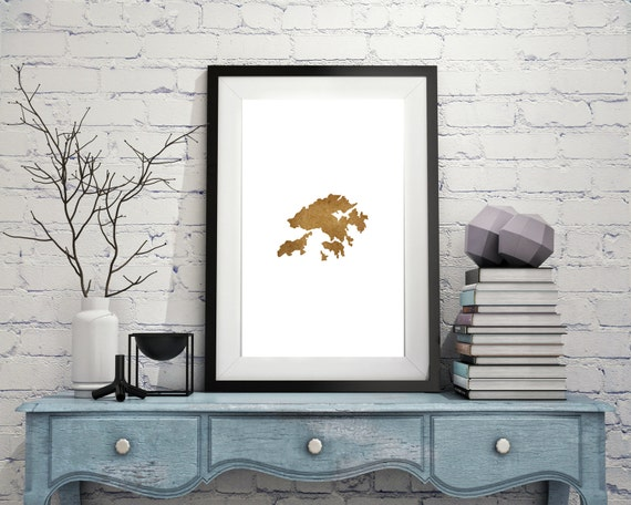 Wall Decoration Hk : Hong kong wall art print your home country map by