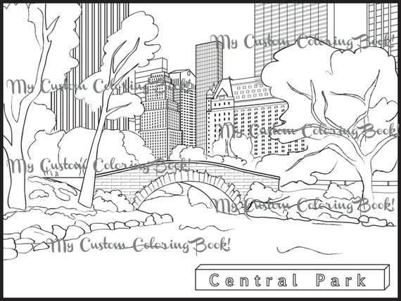 Coloring Books For Adults New Yorker : Download Central Park Coloring Page