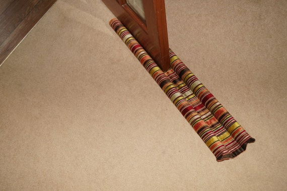 Double Sided Under Door Draft Excluder Thick Striped