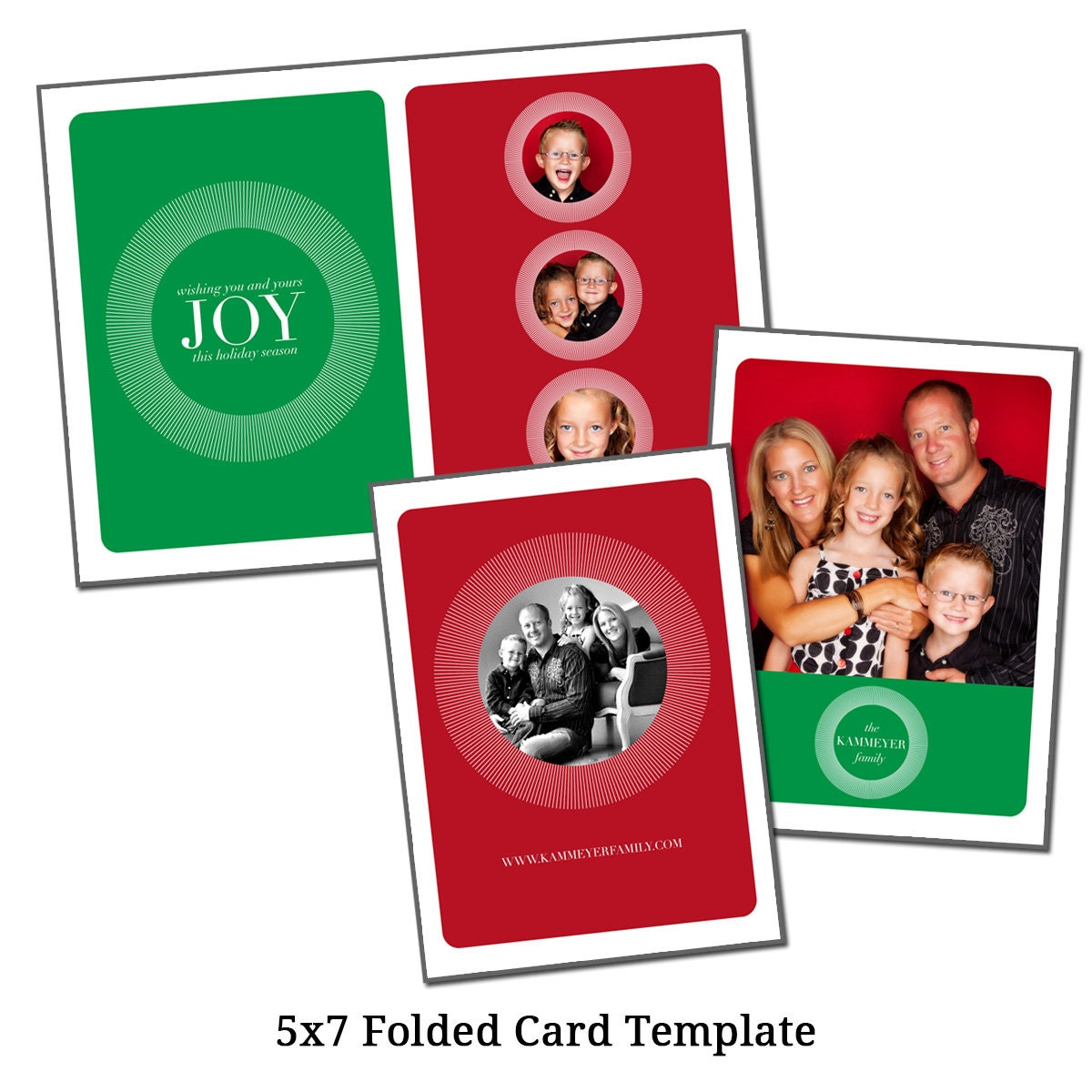 5x7 folded christmas card template holiday card by vgallerydesigns. Black Bedroom Furniture Sets. Home Design Ideas