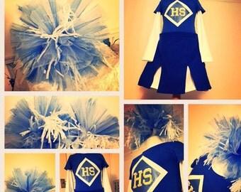 Cheerleading costume pom poms
