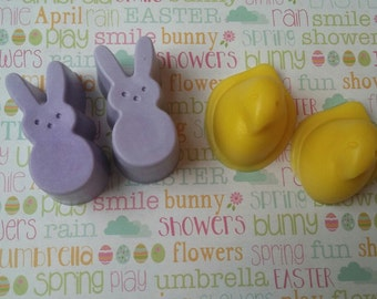 Set of 2 Peep Easter Soaps - Easter basket gift, Easter Gift, Soap gift